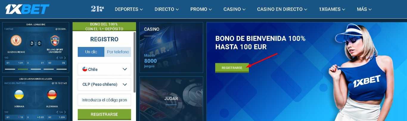 1xBet register bonus